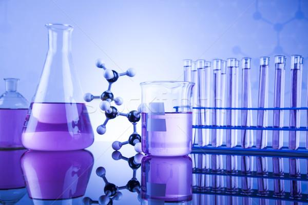 Laboratório artigos de vidro vidro química ciência saúde Foto stock © JanPietruszka