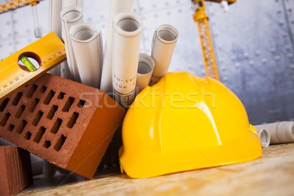 Buildings under construction and cranes  Stock photo © JanPietruszka
