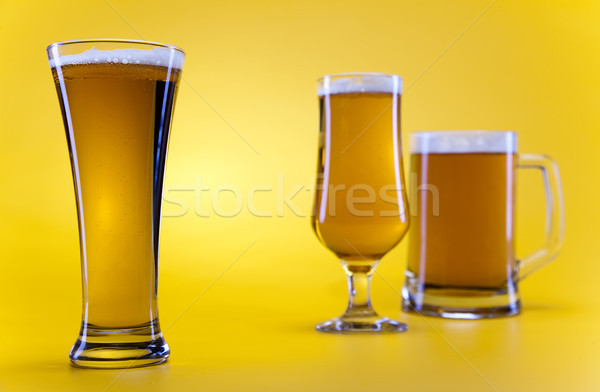 Beer glass, bright vibrant alcohol theme Stock photo © JanPietruszka