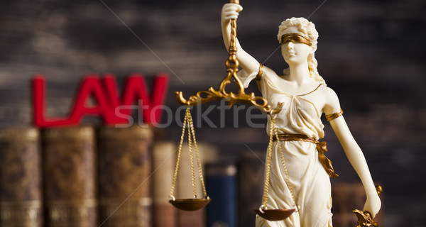 Statue of justice, burden of proof, law theme Stock photo © JanPietruszka