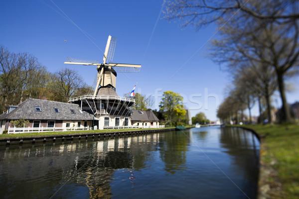 Moulin à vent Pays-Bas vieux holland ciel Photo stock © JanPietruszka