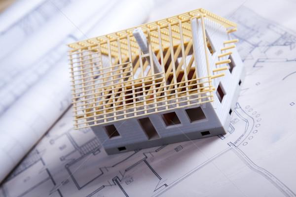 Maison planification architecture art science bâtiments Photo stock © JanPietruszka