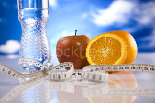 Alimentos medición fitness deporte energía grasa Foto stock © JanPietruszka