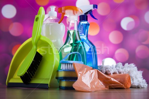 Reinigingsproducten home werk kleurrijk groep fles Stockfoto © JanPietruszka