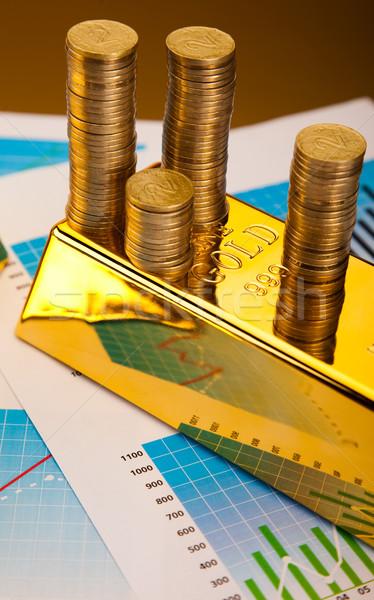 финансовых Бар деньги металл банка рынке Сток-фото © JanPietruszka