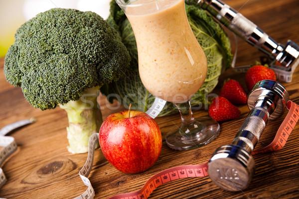 Fitness dieta vitaminas saludable frescos frutas Foto stock © JanPietruszka