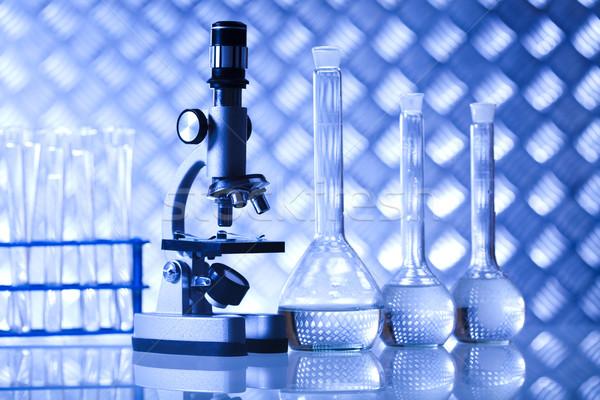 Biotecnologie chimica laboratorio cristalleria bio Foto d'archivio © JanPietruszka