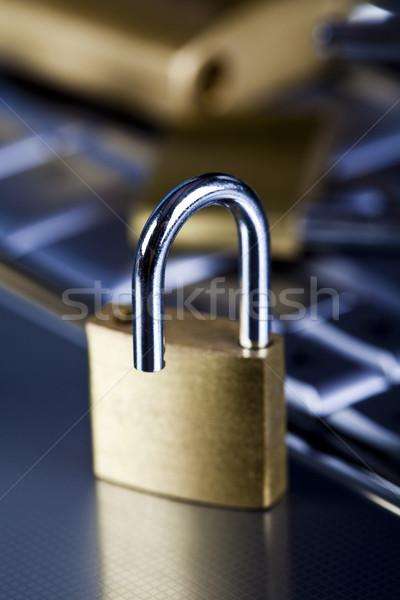 Ordinateur sécurité modernes réseau symboles affaires Photo stock © JanPietruszka
