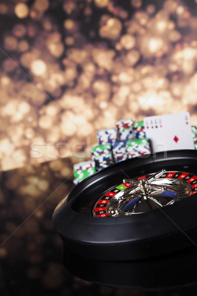 Roulette Glücksspiel Casino Tabelle Spaß schwarz Stock foto © JanPietruszka