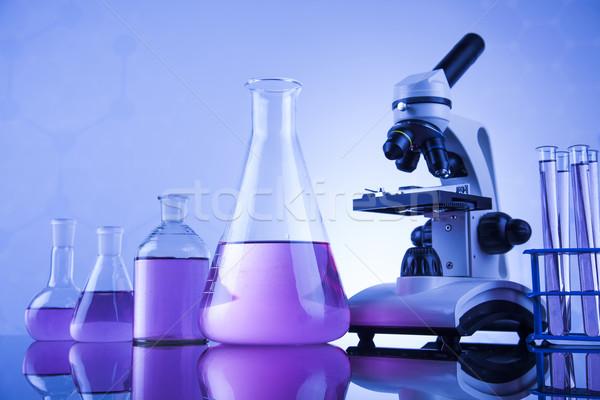 Mikroskopem medycznych laboratorium badań eksperyment edukacji Zdjęcia stock © JanPietruszka
