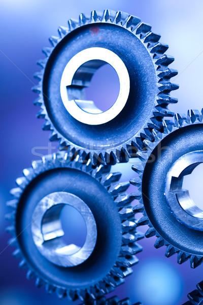 Dişliler endüstriyel mekanizma iş araba teknoloji Stok fotoğraf © JanPietruszka