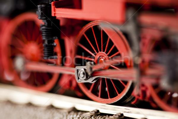 локомотив ярко красочный игрушку модель поезд Сток-фото © JanPietruszka