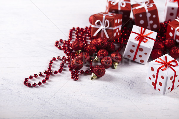 Christmas decoration, colorful saturated home concept Stock photo © JanPietruszka