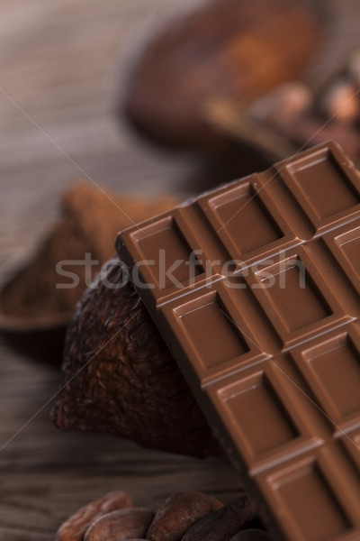 Chocolate sweet, cocoa and food dessert background Stock photo © JanPietruszka