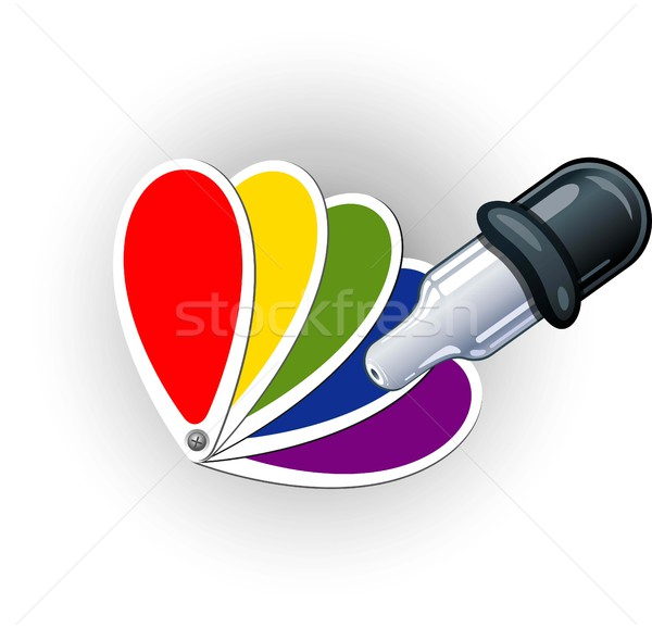 color palette and pipette Stock photo © jara3000