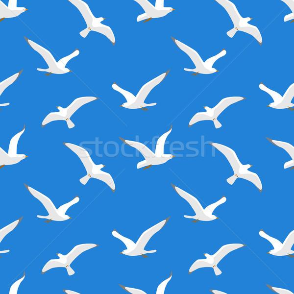 Seamless pattern with sea gulls Stock photo © jara3000
