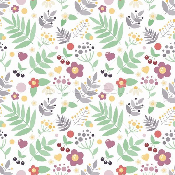 Sem costura floral flor papel moda coração Foto stock © jara3000