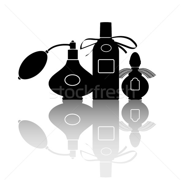 Silhouetten drie eps 10 mode fles Stockfoto © jara3000