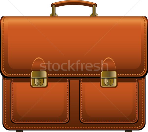 Aktetas bruin witte eps business zak Stockfoto © jara3000