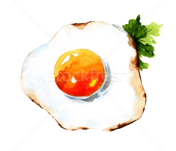 Acquerello illustrazione foglia uovo cucina Foto d'archivio © jara3000