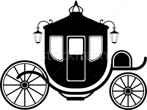 Silhueta branco eps coroa roda Foto stock © jara3000