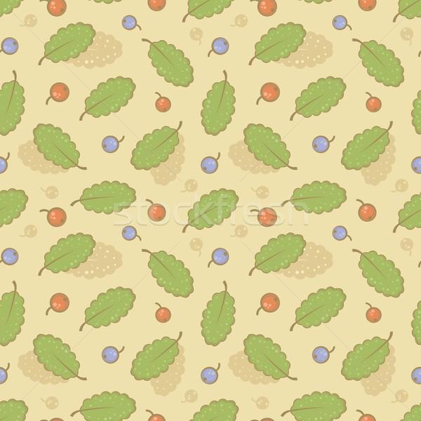 Végtelenített bogyók levelek absztrakt zöld szín Stock fotó © jara3000