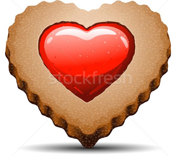 Coração bolinhos branco vetor comida Foto stock © jara3000