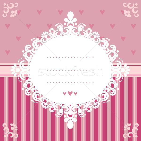 Roze ontwerp eps 10 bruiloft Stockfoto © jara3000