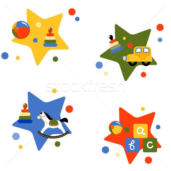 Quatre vecteur illustrations jouets eps 10 Photo stock © jara3000