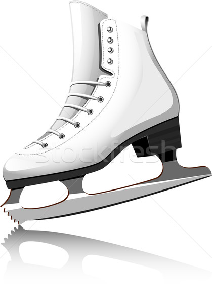 Patinaje artístico blanco eps deporte cuero skate Foto stock © jara3000