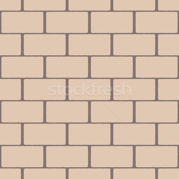 Beige seamless pattern imitating a brick wall Stock photo © jara3000