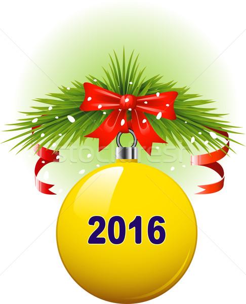 Navidad pelota 2016 eps 10 verde Foto stock © jara3000