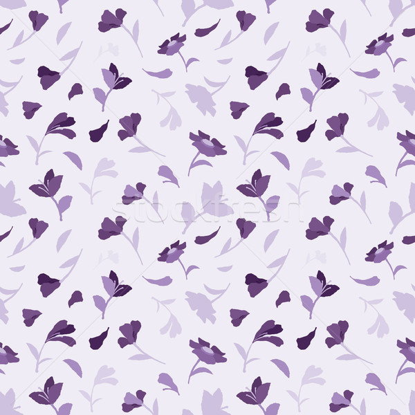 Senza soluzione di continuità estate pattern fiori viola fiore Foto d'archivio © jara3000