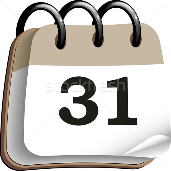 Calendario icona bianco eps 10 business Foto d'archivio © jara3000