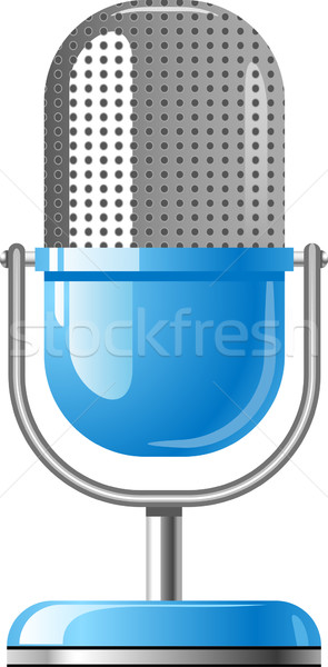 Blue Microphone Stock photo © jara3000