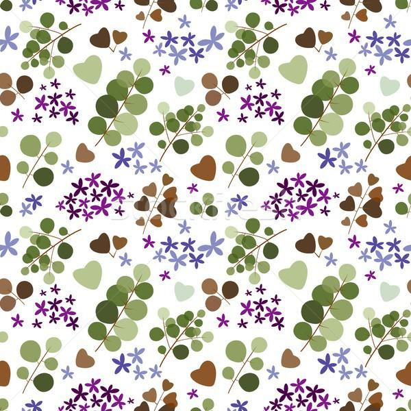 Sin costura naturales elementos flor flores naturaleza Foto stock © jara3000