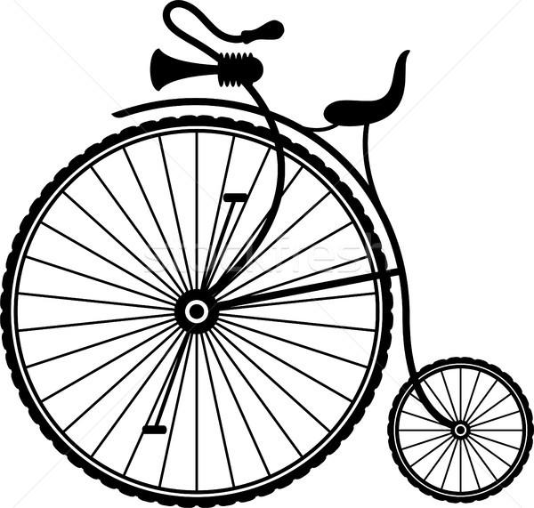 Vintage bicicletta silhouette bianco eps 10 Foto d'archivio © jara3000