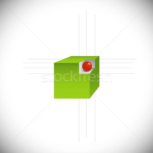 Geométrico abstração eps8 assinar verde corporativo Foto stock © jara3000