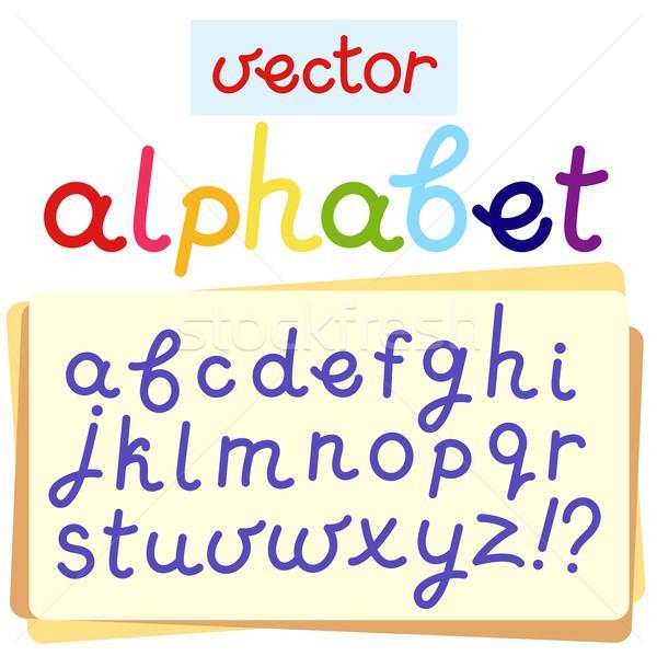 Vector Inglés alfabeto eps 10 diseno Foto stock © jara3000