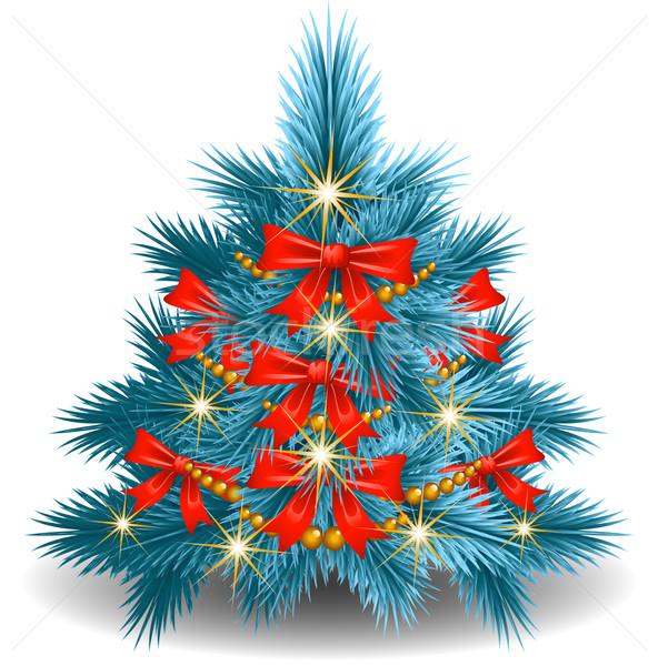 Albero di natale bianco luce design arte Natale Foto d'archivio © jara3000