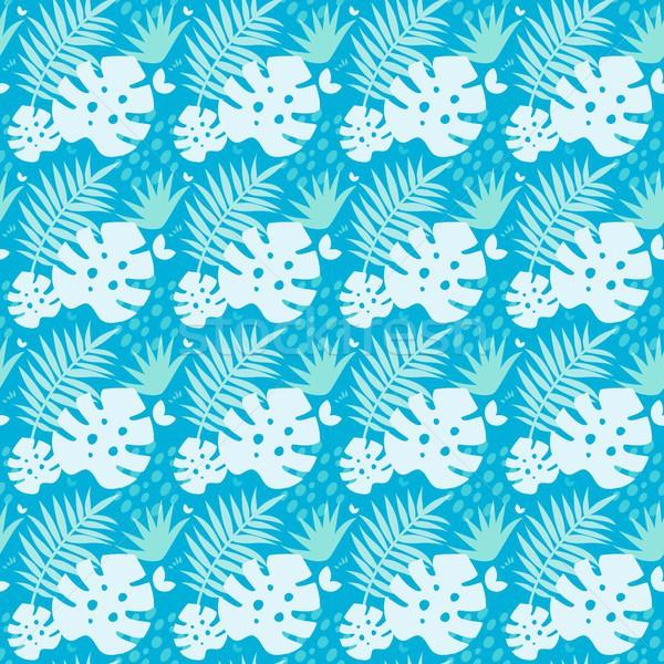 бесшовный тропические листьев завода бумаги красоту Сток-фото © jara3000