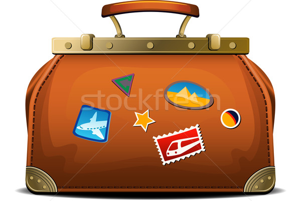 Old-fashioned travel bag (valise) Stock photo © jara3000