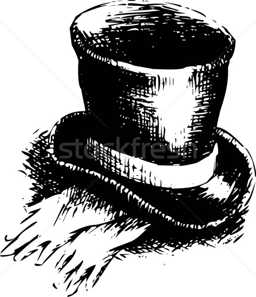 Top hat and gloves Stock photo © jara3000