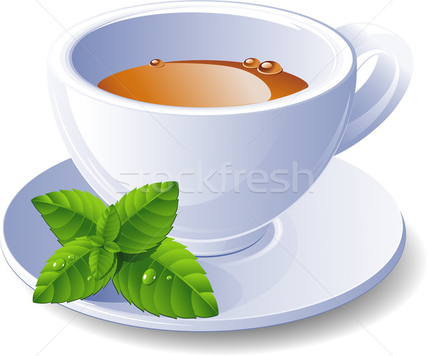 Cup of tea with mint Stock photo © jara3000