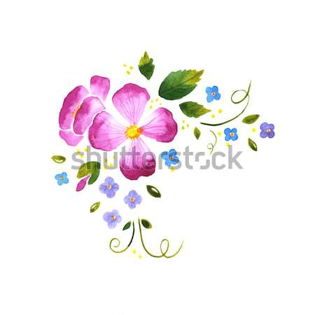 Watercolor floral decorative element Stock photo © jara3000