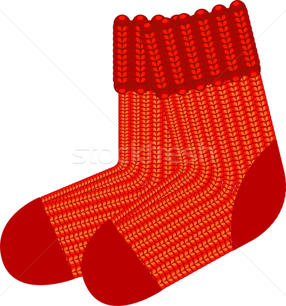 Red knit wool socks Stock photo © jara3000