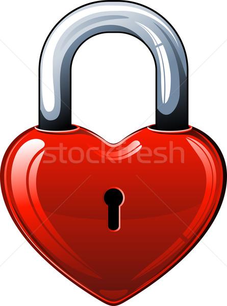 Szív zár fehér eps terv fém Stock fotó © jara3000