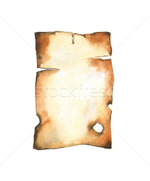 Old burnt paper Stock photo © jara3000