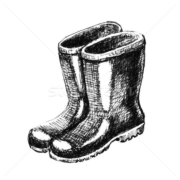 Rubber boots. Sketch Stock photo © jara3000