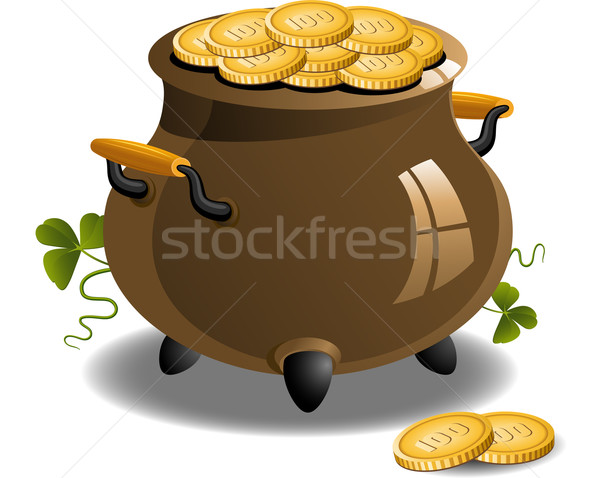Pot of Gold (St. Patrick's Day) Stock photo © jara3000